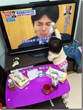 CUx028dVEAA1Sj5ついに野々村元議員に味方が・・・涙を拭いてあげる赤ちゃんが話題に